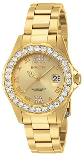 Price comparison product image Invicta Women's 15252 Pro Diver Gold Dial Gold-Plated Stainless Steel Watch