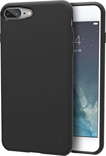 Silk iPhone 7 Plus/8 Plus Grip Case - Base Grip Lightweight Protective Slim Cover - Kung Fu Grip - Black ()