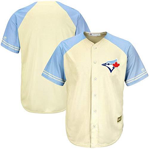 Majestic Majestic Toronto Blue Jays Jays Ivory Cream/Royal Cool Base Blue Ivory Fashion Team Jersey スポーツ用品【並行輸入品】 XXL B07GNZYJFT, デニム2サイズ試着okアクイール:58694109 --- cgt-tbc.fr
