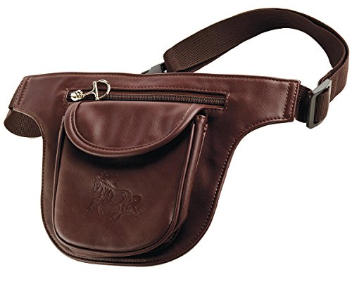 (Brown Faux Leather Treat Pouch for Training or Fanny Pack)