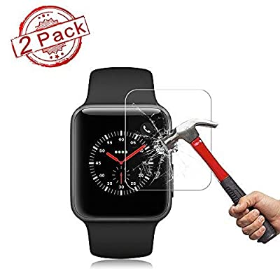 2 Pack 38mm Watch Screen Protector (38mm Series 3/2/1 Compatible) Live2Pedal Full Coverage Anti-Scratch/Anti-Fingerprint/High Definition Screen Protector Compatible Watch 396 mm Yellow