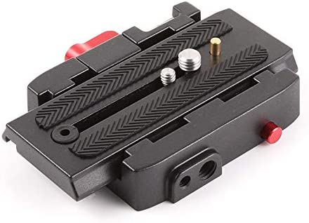 XIANYUNDIAN Quick Release Clamp Base Plate Tripod Screw Mount for DSLR Camera Camcorder for Manfrotto 500 AH 701 503 HDV 577 577 500 Camera Mounts Clamps
