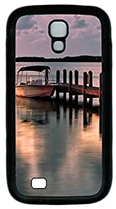 Samsung Galaxy S4 I9500 Cases & Covers - Moored Boat Scenery Custom TPU Soft Case Cover Protector for Samsung Galaxy S4 I9500 - Black