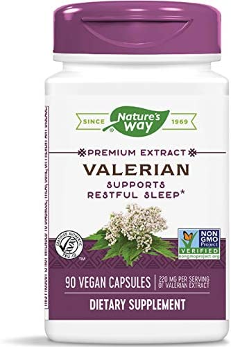 Nature s Way Valerian 08 Valerenic Acids Non-GMO Project Verified Gluten Free 220 mg of Extract per serving, 90 VCaps