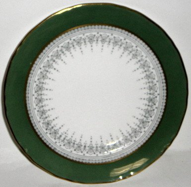 (Royal Worcester Regency Green On Grey Bread & Butter Plate)