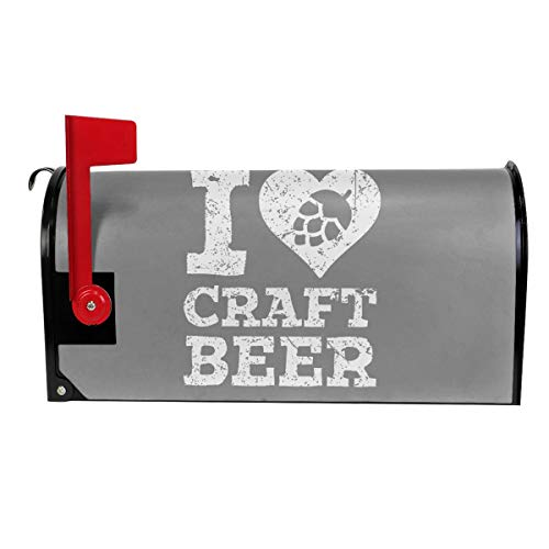 Tanyeflw Standard Size Mailbox Covers for Home I Love Craft Beer]()