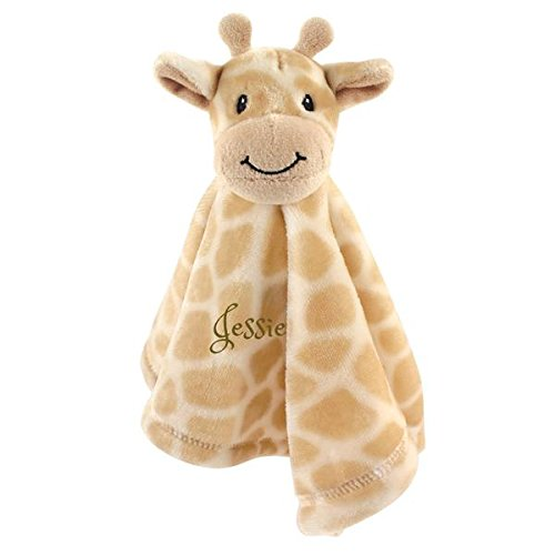(Personalized Premium Safe Animal Security Blanket Giraffe Blanket | Baby Blanket | Free Custom Monogram/Name Embroidered -Ideal for Baby Shower/Birth Present (Giraffe))