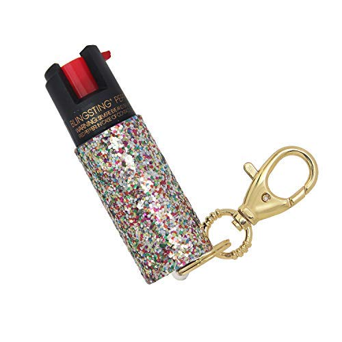 super-cute pepper spray Keychain - Fashionable & Powerful, Our 10% OC, No Gel Sprays Long Range and is Specifically Designed for Women, Safe, Accessible, Easy to Use - Multi ()