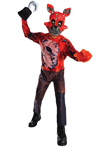 Foxy 5 Nights At Freddy's Costume (Rubie's Costume Boys Five Nights At Freddy's Nightmare Foxy The Pirate Costume, Large, Multicolor)
