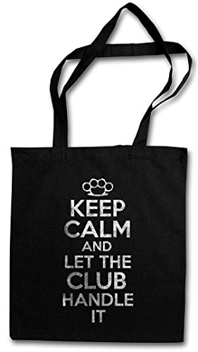 KEEP CALM AND LET THE CLUB HANDLE IT Hipster Shopping Cotton Bag Cestas Bolsos Bolsas de la compra reutilizables