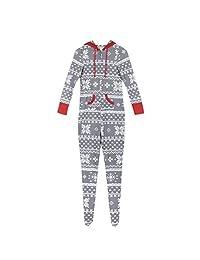 Meijunter Christmas Pajamas Set Family Matching - Jumpsuit One Piece Onesie Gray