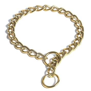 Amazon.com: platinum pets 24 quilates de oro, Choke Cadena ...