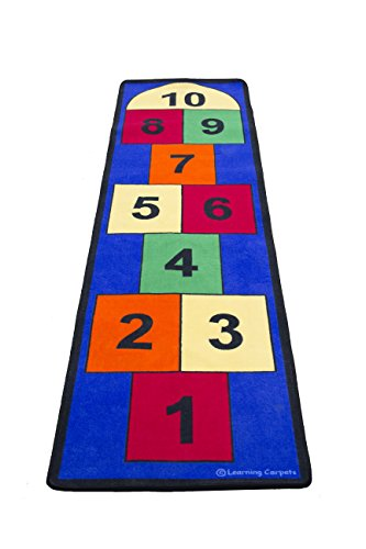 Hopscotch Game Rug (Learning Carpets Jumbo Large Hopscotch Toy, 80cm x 3m, One Color)