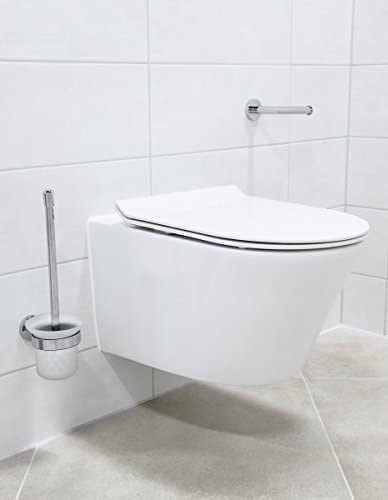 Abattant Si/ège WC:Standard Bernstein Badshop WC Suspendu sans Bride 1088R Abattant Softclose Inclus