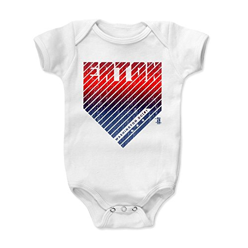 - 500 LEVEL Adam Eaton Baby Clothes, Onesie, Creeper, Bodysuit 18-24 Months White - Washington Nationals Baby Clothes - Adam Eaton Home R