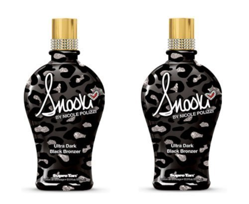 Ultra Black Dark Bronzer - LOT of 2 Supre Snooki Ultra Dark Black Bronzer Tanning Lotion 12 Oz