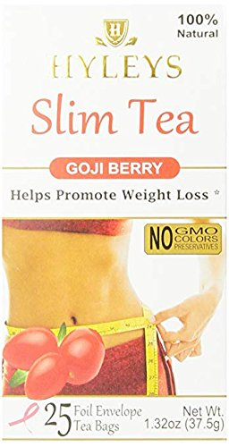 Hyleys Tea Slim Tea Goji Berry 1 32 Ounce 25 Tea Bags Limited