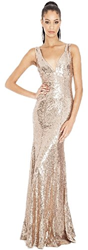 Goddiva Long Sequin Maxi Evening Ball Gown Dress - Buy Online in Oman.  b5df332aa