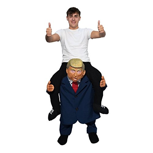 Funny Costumes - Unisex Piggy Presidential Leader Piggyback Costume - With Stuff Your Own Legs