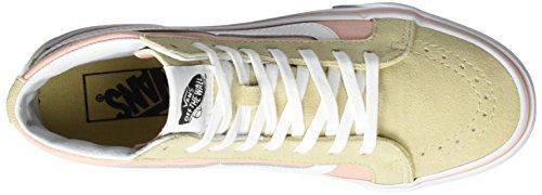 Vans UA Sk8-Hi Slim, Scarpe da Ginnastica Alte Donna Beige (Pale Khaki/True White)