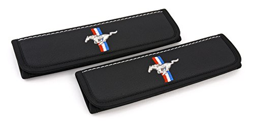 Car Interior Seat Belt Covers for Adults Black Shoulder Pads Seatbelt Cover pad with Embroidered Emblem Accessories Compatible for Mustang Great idea for a Gift to The Driver! 2 -