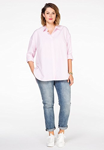 Grande Violet Femme Rayée Taille Yoek Blanc Chemise 5fpHxq