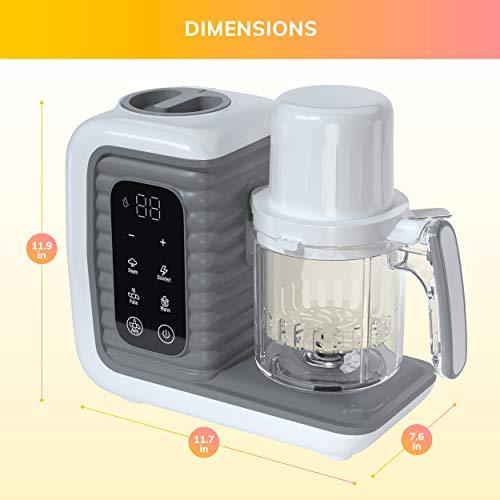 41MdeymnkEL - Children Of Design 8 In 1 Smart Baby Food Maker & Processor, Steamer, Blender, Cooker, Masher, Puree, Formula & Bottle Warmer Prep System
