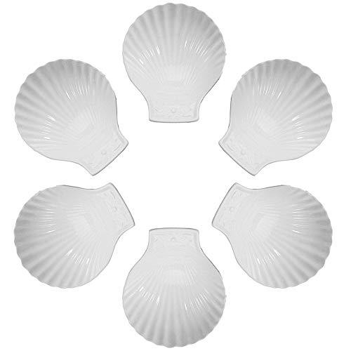 Baking Scallop - BIA Cordon Bleu White Porcelain 6.75 inch Shell Dish -Set of 6