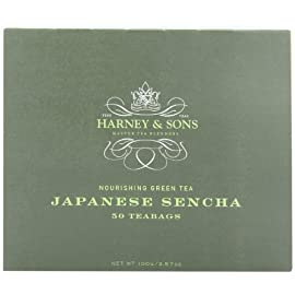 Harney & sons japanese sencha green tea, 50 tea bags 1 premium green tea light, delicate tea handpicked in spring steep for 1-3 minutes in boiling water before drinking