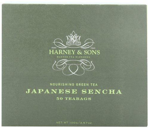 Harney & Sons Japanese Sencha Green Tea, 50 Tea Bags - Harvey Light