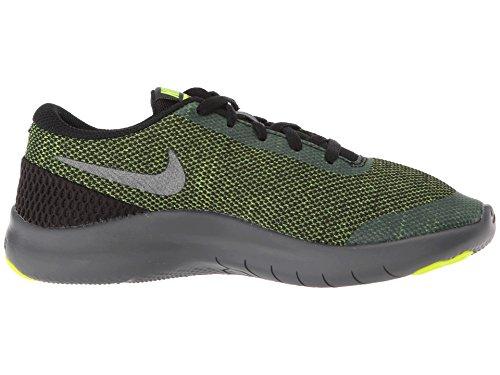 Nike Kids Flex Experience RN 7 (GS) Running Shoes (4 Big Kid M, Black/Metallic Dark Grey/Volt/Dark Grey) by Nike (Image #7)