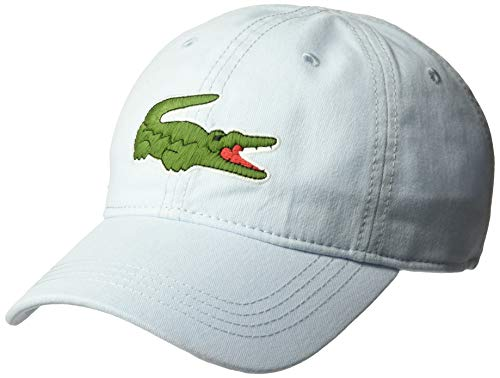 Lacoste Mens Classic Big Croc Gabardine Cap Baseball Cap, Rill Light Blue, One Size