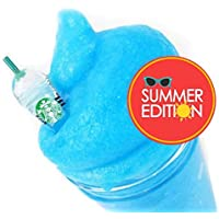Summer Blue Raspberry Slushie with Charm - Scented Jelly Slime - Made in the USA by Artistic Slimez