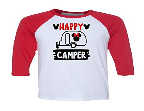 Handmade Disney Happy Camper Shirt with Minnie Camper Can personalized or put any saying]()