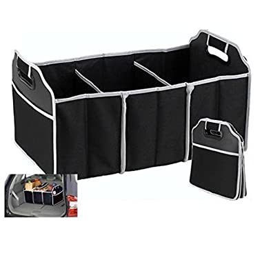 Portable Collapsible Folding Flat Trunk Auto Organizer For Car Suv Truck Van