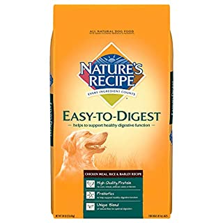 Nature's Recipe Easy to Digest Dry Dog Food, Chicken Meal, Rice & Barley Recipe, 30 Pounds