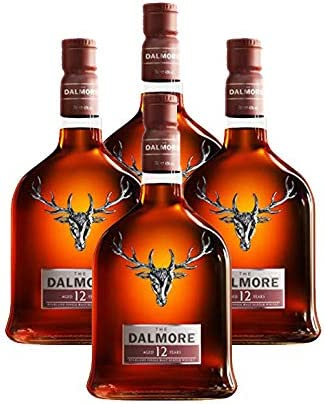 Whisky Dalmore 12 años de 70 cl - D.O. Escocia - Bodegas Gonzalez Byass (Pack de 4 botellas)