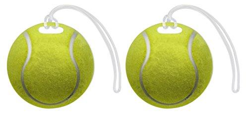 Tennis Bag Tag Tennis Ball Luggage Tag Tennis Equipment Gifts Tennis Raquet Bag Tag Gift 2-pack Aluminum Circle Luggage Tags