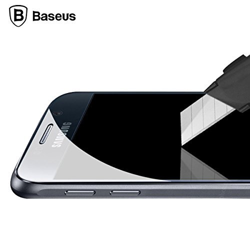 Baseus 0.3mm Premium Hd Tempered Glass Screen Protector for Samsung Galaxy S6 - Extreme Clarity Anti-wrestling Protection From Scratches (Rounded Edges)