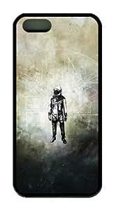 Sakuraelieechyan Retro Spaceman Iphone5 5S Black Sides Rubber Shell TPU Case