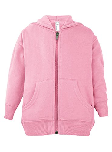 Rabbit Skins Toddler Zip Fleece Blank Hoodie [Size 5/6T] PinkLong Sleeve Sweatshirt
