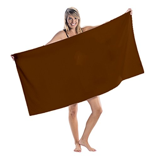 NobleHomeShop Premium Velour Beach Towels N/A (Chocolate)