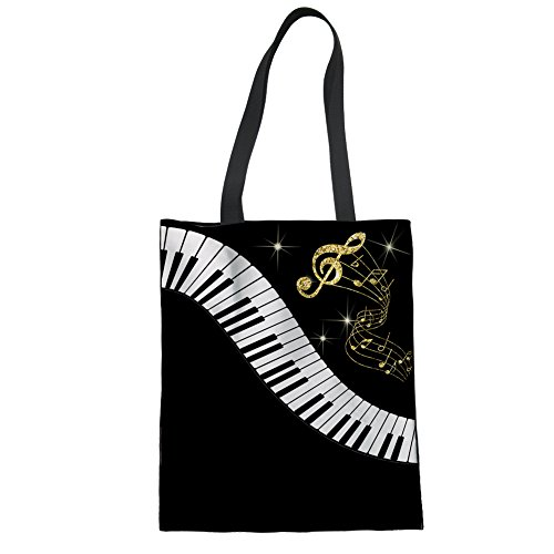 14 Music la Showudesigns para compra Music reutilizable 16 Bolso de de mujer lino aaqvH