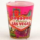 Las Vegas Shot Glass Welcome to Las Vegas Solar Pink (4) Pack 37010