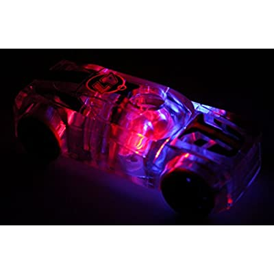 Marble Racers Award Winning Light Up 1:43 Scale Race Car with Quick Shot Pull-Back Motor with Purple Wheels: Toys & Games