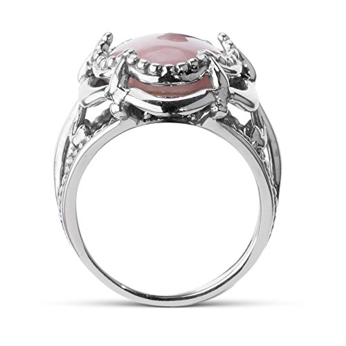 Carolyn Pollack Sterling Silver Pink Opal Bold Ring Photo #2