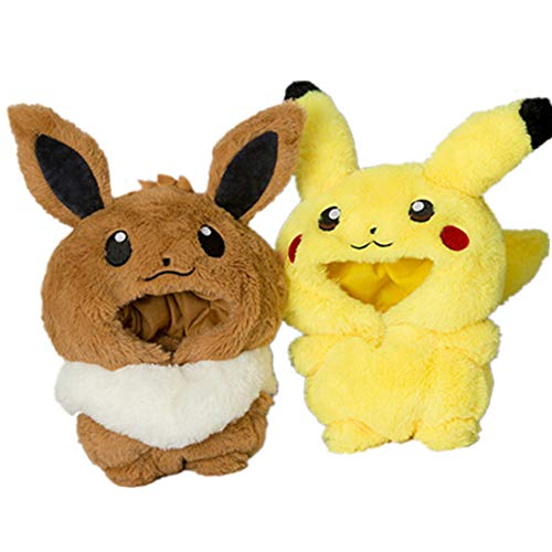 VogueMing Kpop Shinee BTS EXO Doll's Clothes Pikachu Eevee Doll's Bag Accessories【no Doll】 (1pc Eevee Bag Without Chain[no Doll])