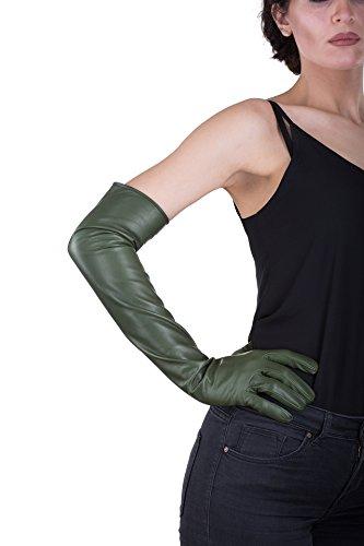 Parisi Gloves – イタリアレザー手袋60 cm Long – シルク裏地 – 16pst