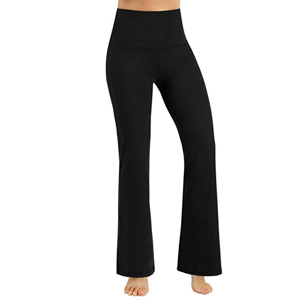 Pantaloni Donna Vita Alta ✤WQIANGHZI✤ Leggings Donna Fitness Push Up Eleganti Pantalone Sportivo Palestra Gamba Larga Yoga Danza Quotidiana Activewear