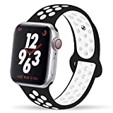 YC-YANCH-Compatible-for-Apple-Watch-Band-38mm-40mm-42mm-44mmSoft-Silicone-Sport-Band-Replacement-Wrist-Strap-C